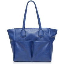 Fashion Simple Pure Color Batwing Tote Bag Handbag