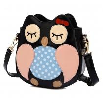 Cute Owl Contrast Color Shoulder Bag Cross Body Bag