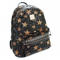 Fashion Sequins Pentagram Backpack Travelling Bag