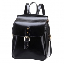 Retro Solid Color Multifunction Backpack School Bag