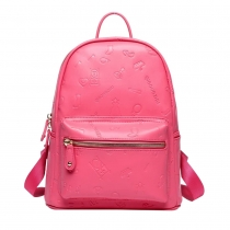 Sweet Candy Color Geometric Embossing Backpack School Bag