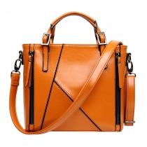 British Style Solid Color Motorcycle Handbag Shoulder Messenger Bag