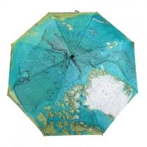 Carte du monde Imprimer parapluie pliant pour la protection UV / pluie