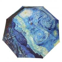 Nuit étoilée / Coucher du soleil pliant parasol