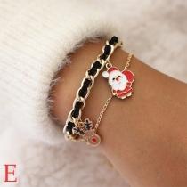 Bracelet de Noël Doux Mignon Stylé à la Mode avec les Pendentifs