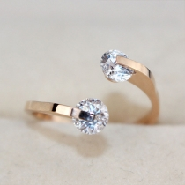 Fashion Rose Gold Rhinestone Women Ring