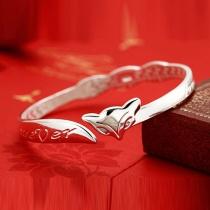 Bracelet Rétro Ethnique-Style avec une Décoration de Renard