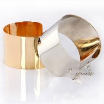 Punk Style Gold/Silver-tone Mirror Metallic Bracelet