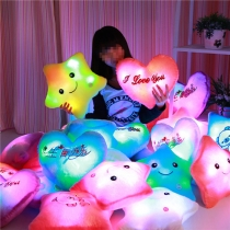 Colorful Glow LED Luminous Light Music Pillow Cushion