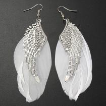 Boucles d'Oreillles/Bijoux / Accessoires Pour Femmes Chic à la Mode avec un Design d'Ailes d'Ange