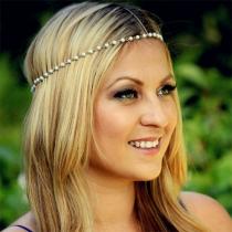 Couronne Douce Féminine à la Mode avec les Décorations de Perles