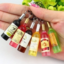 Creative Style Red Wine Bottle Phone Strap Phone Pendant