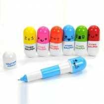 Cute Pill-shaped Retractable Ballpoint Pen