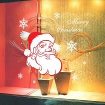 Mignon père Noël flocon modèle amovible sticker