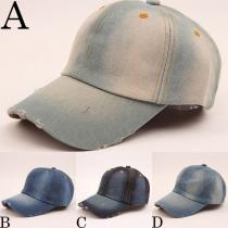 Chapeau jean mixte style retro