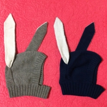 Cute Style Rabbit Ears Shaped Knitted Hat for Kids