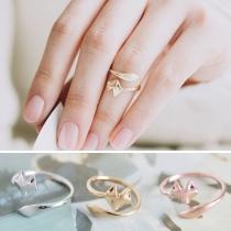 Fashion Cute Fox Shaped Adjustable Open Ring