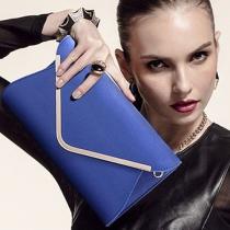Elegant Solid Color Shoulder Messenger Bag Cluth