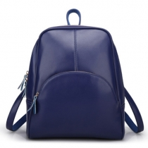 Casual Style Solid Color Shell-shaped Backpack