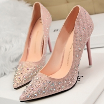 Chaussures à Talons Hauts Elégantes à la Mode Paillettées
