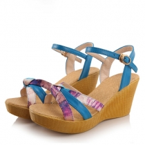 Bohemian Style Wedge Heel Open Toe Sandals