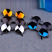 Retro Round Frame Anti-UV Sunglasses