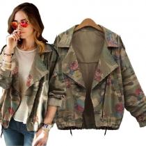 Veste Cool à la Mode à Imprimés en Couleur Camouflage