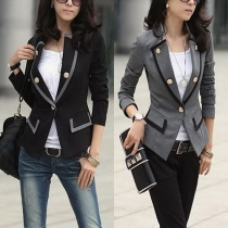OL Style Long Sleeve Slim Fit Blazer