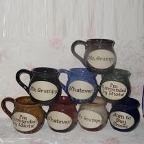 Lettres rétro imprimé métiers en céramique tasse en céramique