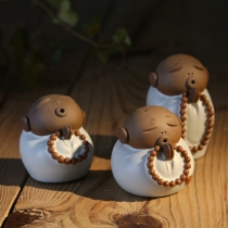 Cute Little Monk Shaped Teapot Tea Set