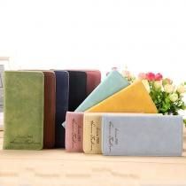 Retro Style Solid Color Long Wallet