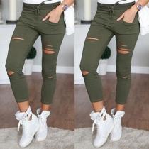 Pantalon Chic Cool à la Mode Elimé-Style à la Taille Haute