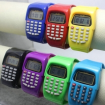 Montre-bracelet Calculatrice Electronique pour Enfant Multi-fonctionnelle Grosse Vente