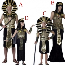 Creative Halloween Egyptian Pharaoh Cleopatra Parent-child Clothes