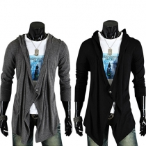 Fashion Casual Solid Color Long Sleeve V-neck Knit Cardigan