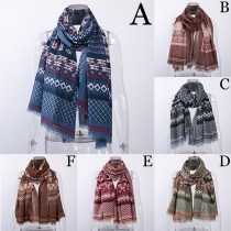 Ethnic Style Printed Scarf