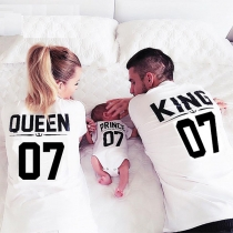 Vêtements Pour la Famille---Tee-Shirt(KING)+Tee-Shirt(QUEEN)+Body(Prince/Princesse)