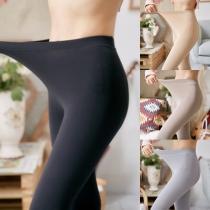 Leggings Moulant Elastique à la Mode à la Taille Haute