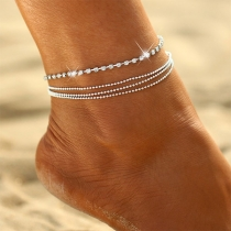 Simple Style Rhinestone Inlaid Anklet