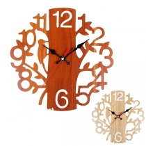 Retro Style Tree-shaped Wall Clock