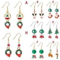 Boucles d'Oreilles de Noël Douces Mignonnes à la Mode avec les Pendentifs