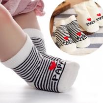 Chaussettes 2-Paires Douces Mignonnes à la Mode à Imprimés de Lettres Pour les Bébés