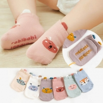 Chaussettes 2-Paires Douces Mignonnes à la Mode à Imprimés Pour les Bébés