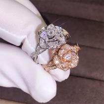 Fashion Rhinestone Rose Shaped Ring