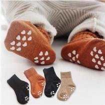Chaussettes de 2-Paires Douces Mignonnes à la Mode à Imprimés Pour les Enfants