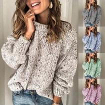 Fashion Long Sleeve Round Neck Loose Sweater