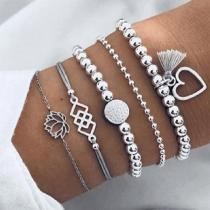 Bracelet de 5-Pièces Stylé Chic à la Mode