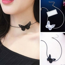 Collier Choker-Style Chic à la Mode en Forme de Noeud Papillon