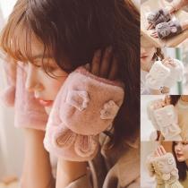 Gants Doux Mignons à la Mode avec un Design des Oreilles de Lapin