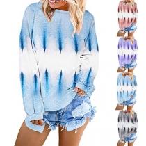 Fashion Long Sleeve Round Neck Printed Sweatshirt